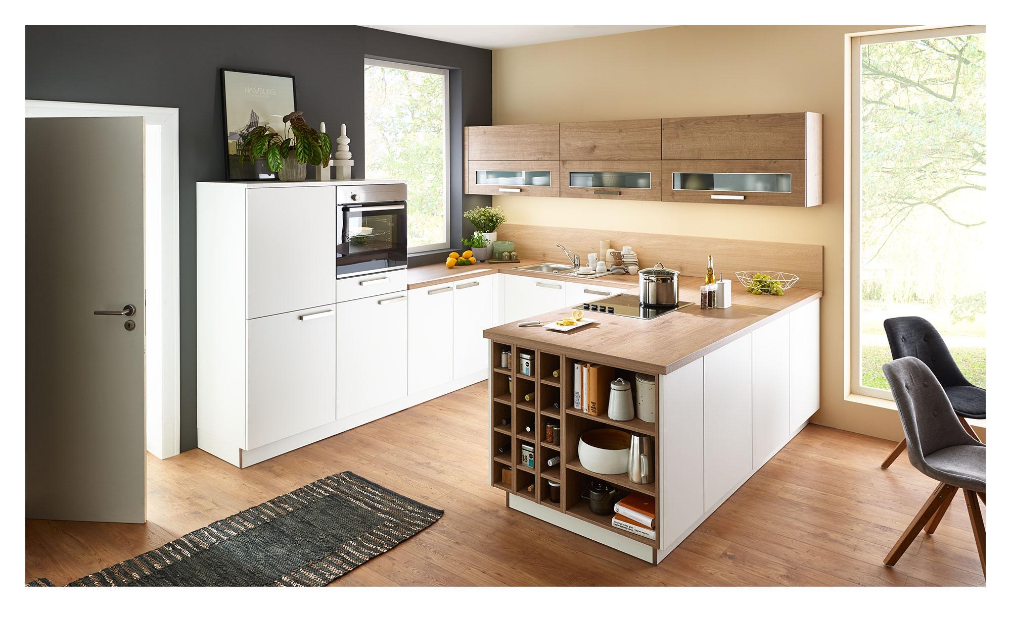 Nolte Inselküche Manhattan uni – bei Möbel Heinrich kaufen!
