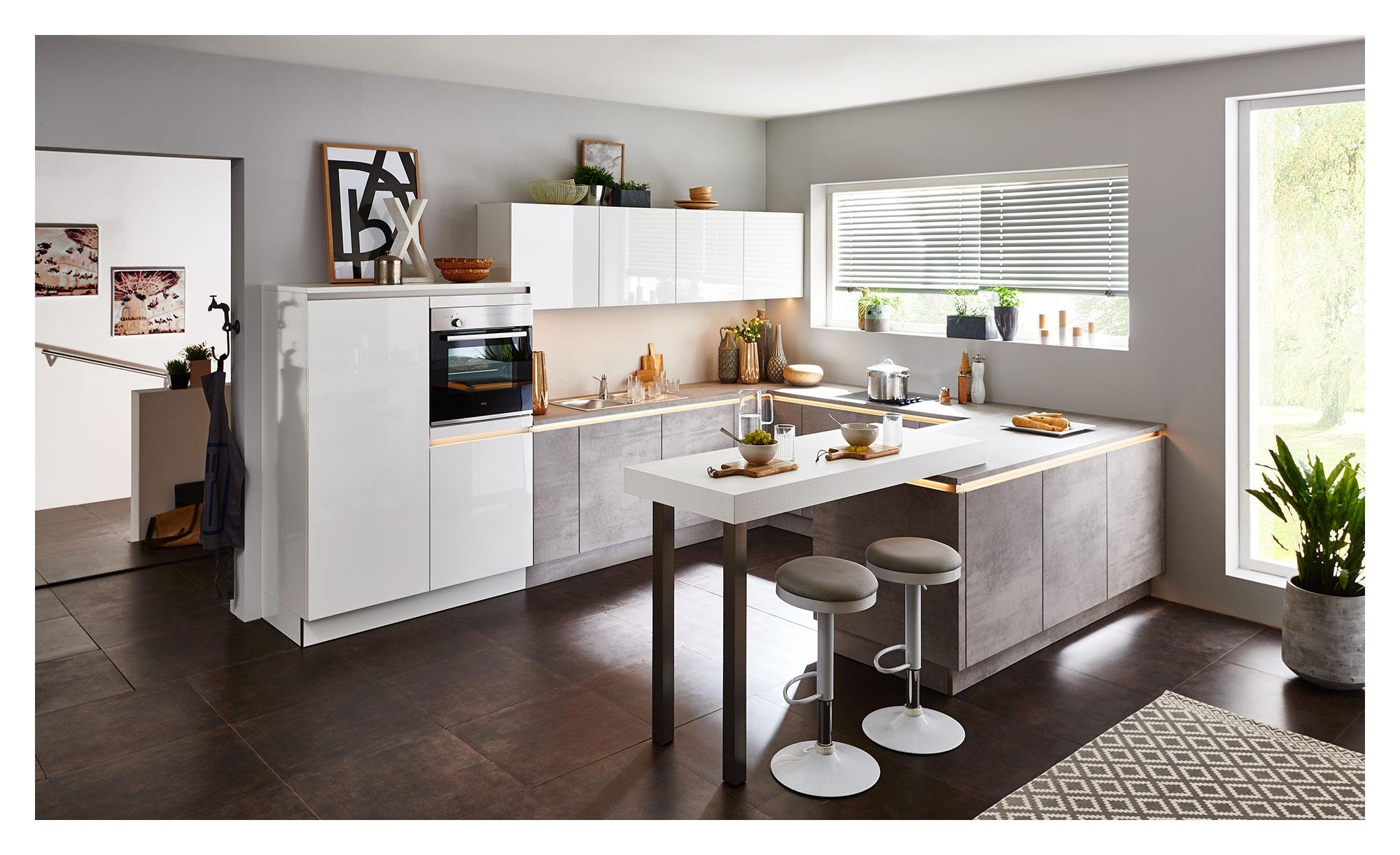 Nolte Wohnküche Lux/Stone – bei Möbel Heinrich kaufen!