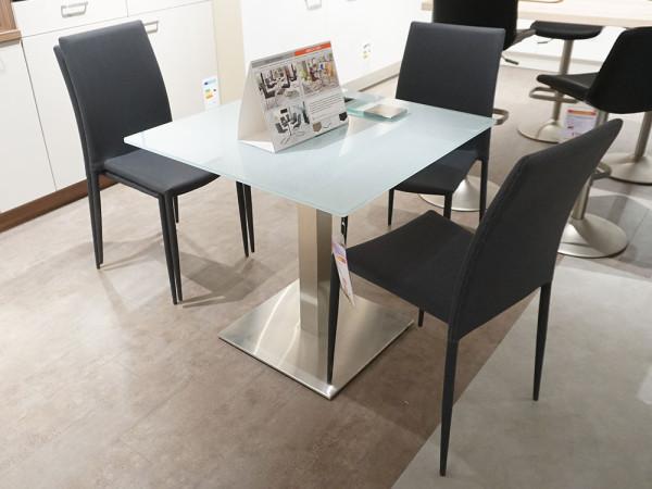 """Tischgruppe """"Steel-Glas"""""""