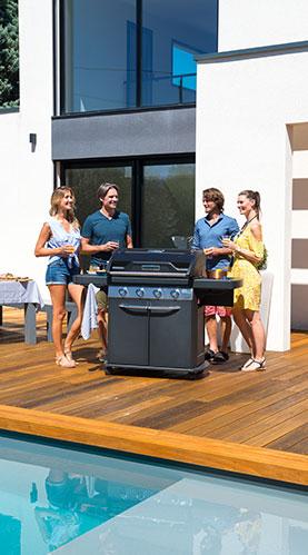 Campingaz-Markenseite Freunde am Pool