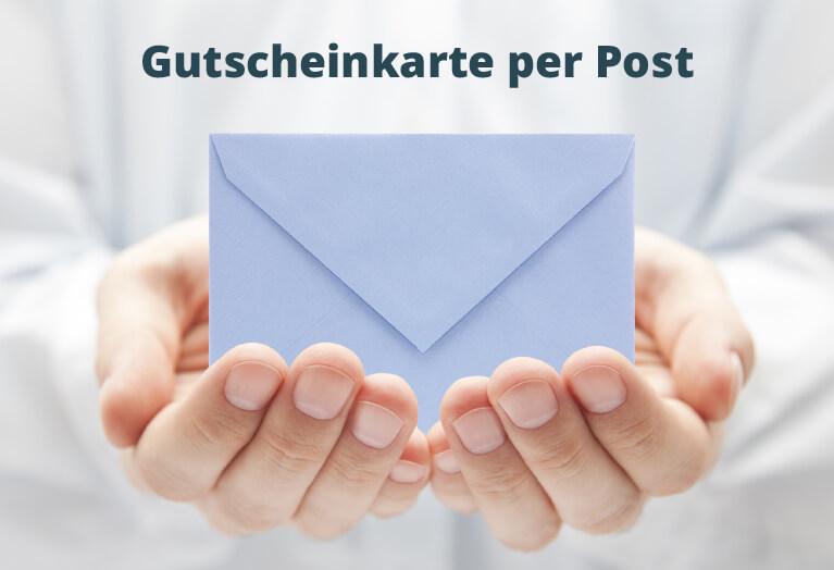 Geschenkgutschein per Post
