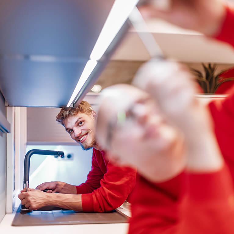 Küche - Installation und Anschluss